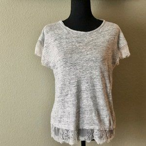 Zara | Short sleeved lace trimmed tee